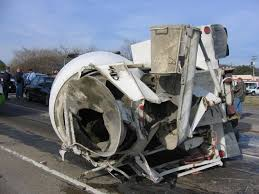 why would a concrete mixer truck flip over on mayor ambassador