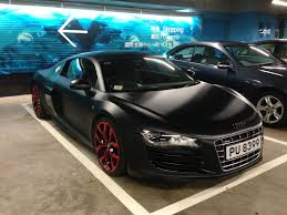 audi supercar black came across this mean looking matte black audi r8 with red rims