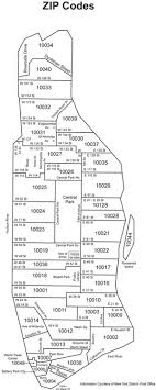 map of manhattan zip code map manhattan new york city ny
