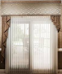 Curtain Cornice Ideas Custom Scalloped Cornice Board With Drapery Panels Top