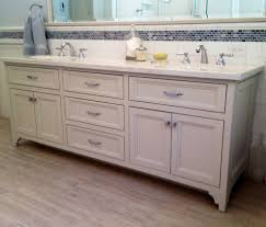 Sink With Double Faucet Brushed Brass Bathroom Faucets Bathroom Traditional With Double