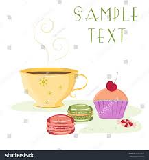 Cherry Cupcake Invitation Card Royalty Vector Card Template Cup Beverage Stock Vector 272879618
