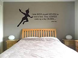 disney peter pan quote boys bed