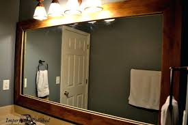 Framed Mirrors Bathroom Wooden Framed Mirrors India Surprising Brown Square Rustic Mirror