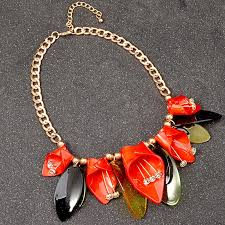 fashion jewelry red necklace images Uddein new style acrylic flower collar fashion jewelry accessories jpg