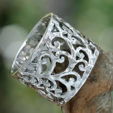 silver band sterling silver band ring bali novica
