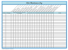 Maintenance Tracking Spreadsheet by 31 Days Of Home Management Binder Printables Day 23 Auto