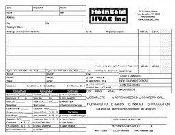 Service Invoice Templates by Heating Amp Air Invoice Form Samples Wilson Printing Wilson Hvac