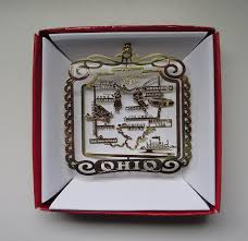 ohio state brass ornament souvenir gift