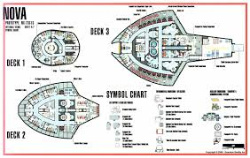 schematic of deck 1 from tos u s s enterprise ncc 1701 star