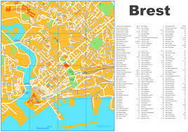 St Malo France Map by Brest Tourist Map