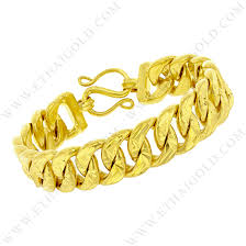 chain bracelet with diamond images Baht polished diamond cut solid curb chain bracelet in 23k yellow gold jpg