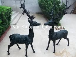 bronze garden sculptures for sale uk bronze deer garden statues