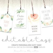 wedding gift labels wedding favor labels template bridal shower favor tags template
