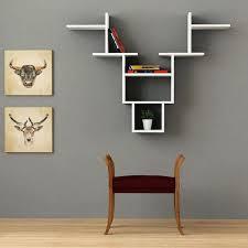 etagere chambre adulte idee deco murale etagere blanche etageres murales design salon