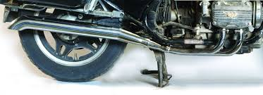 mac honda gl1200 84 87 4 into 2 chrome turn down exhaust