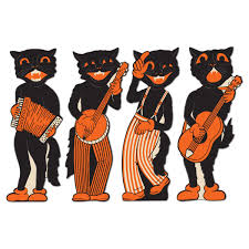 amazon halloween amazon com beistle 4 pack cat band cutouts 17 inch kitchen