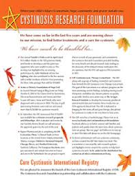 cystinosis magazine and newsletters cystinosis research foundation
