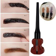 brand makeup semi permanent peel off eyebrow paint gel guitar