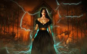 hd halloween dark horror women fantasy gothic vampire evil brunette