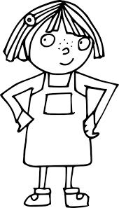 Petite fille  Coloriages autres