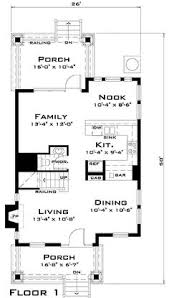 main floor plan for 10075 40 ft wide narrow lot house plan w
