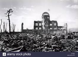 ruins of hiroshima japan after atomic bomb world war ii 1945
