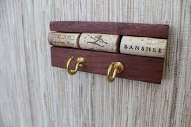 wine cork wall hanger reclaimed wood key holder thewoodenbee dma