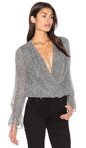 dvf blouse diane furstenberg svetlana blouse in grand armatura black