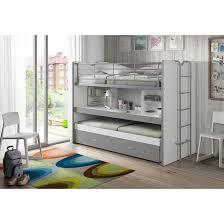 bureau superposé lit superposé 3 couchages bureau gris 90x200 gris terre de nuit la