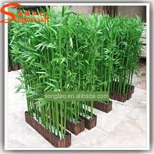 cheap outdoor wall decoration plastic artificial lucky bamboo tree
