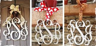Monogrammed Home Decor Beautiful Wooden Monogram Home Decor 3 Large Letters Jane