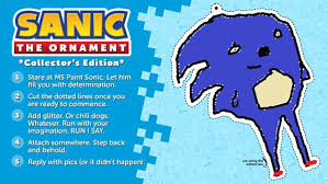 sonic the hedgehog on today you should 1 print out