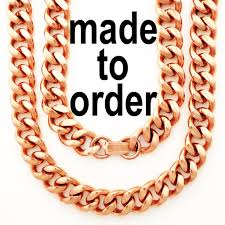 curb necklace images Custom size solid copper chain necklace heavy duty cuban curb jpg