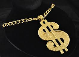 gold costume necklace images Gold dollar sign chain necklace costumes wigs theater makeup and jpeg