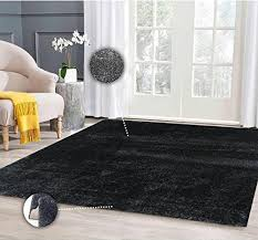black fuzzy rug amazon com