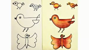 easy birds drawing how to draw birds in simple steps youtube