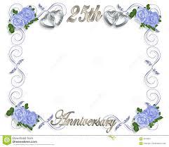 25 wedding anniversary 25th anniversary template stock illustration illustration of