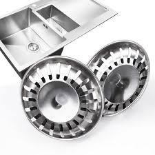 X Stainless Steel Kitchen Waste Sink Drain Stopper Strainer Plug - Kitchen sink drain plug