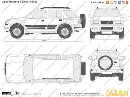 opel frontera the blueprints com vector drawing opel frontera 5 door