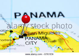 map of panama city panama city pinned on a map of florida usa stock photo royalty