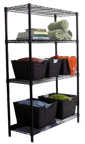 Wire Shelving Storage Trinity 4 Tier Indoor Wire Shelving Rack 36