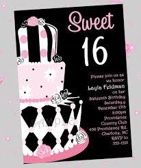 birthday invites sweet 16 birthday invitations ideas wording