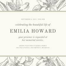 funeral service announcement wording customize 38 funeral invitation templates online canva
