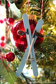 21 rosemary how to make a miniature skis with poles ornament