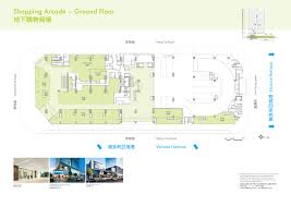 floor plan of a shopping mall exchange tower