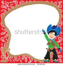 Cowboy Christmas Party Invitations - cowboy christmas borders