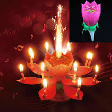 sparkler candles for cakes new musical lotus flower happy birthday party candle