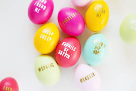diy typography easter eggs lovely indeed