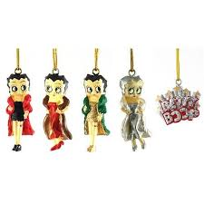betty boop 5 mini ornament set new